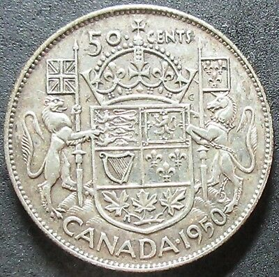 1950 Canada Silver Fifty Cent Coin