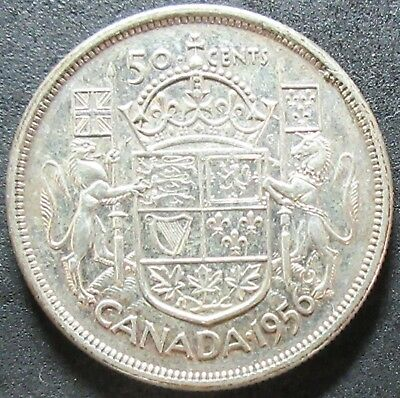 1956 Canada Silver Fifty Cent Coin