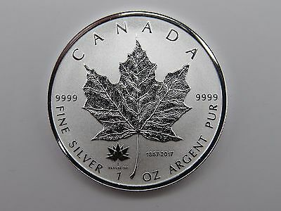 1867 - 2017 1 oz Silver Maple Leaf CANADA 150 Privy Coin 9999 Fine Silver RCM BU