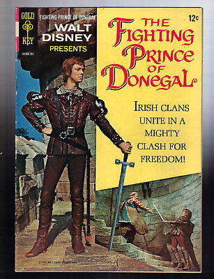 The Fighting Prince of Donegal Gold Key Movie Comics 10193-701 (1967) Disney FN