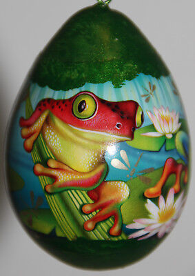 gourd Christmas ornament with frogs
