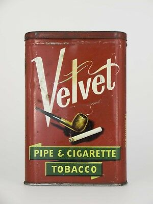 ✅ Blechdose Velvet Pipe & Cigarette Tobacco Tabak Dose Made in USA Dose Leer ✅