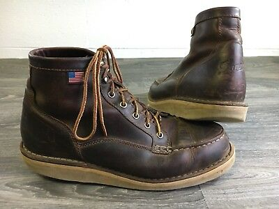 5b3c7d48b0e7 Danner Bull Run Moc Toe Boot Work Outdoors Crepe Sole Men s Size 10.5 USA  Made