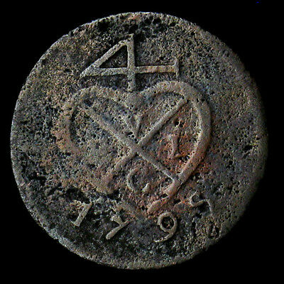 1798 // AH1213 Netherlands East Indies Island of Sumatra 3 Keping 5.8g 26mm