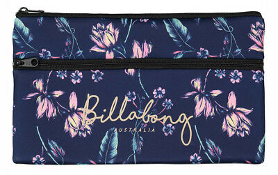 New + Tag Billabong Nightshade Large Girls Womens Neoprene Pencil Case Peacoat