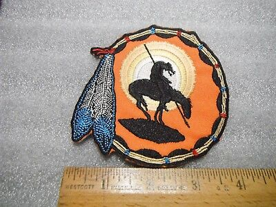 Indian END OF THE TRAIL Iron on Patch