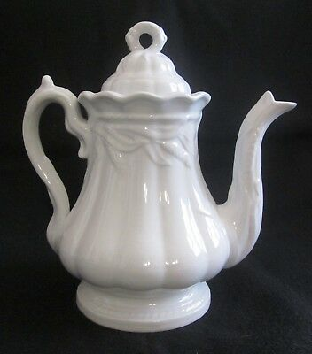 """Antique Elsmore & Forster Ceres Wheat White Ironstone Teapot 9 1/2"""" EXCELLENT!"""
