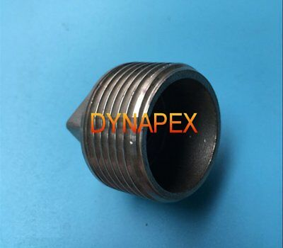 """1/2"""" BSP BSPP Pipe Thread Square Head Plug with Hollow Stainless Steel  P-@N6"""