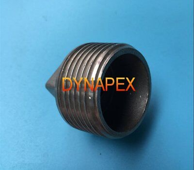 """1/4"""" NPT Pipe Thread Square Head Plug with Hollow Stainless Steel  N-@N4"""
