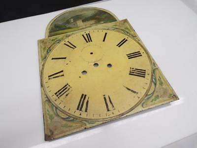 "Rare Very Early ""Italian Winery"" Hand Painted Grandfather Clock Face Dial WS1-1"