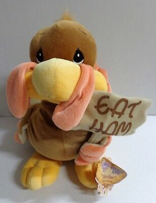 "Enesco Precious Moments Tender Tails Tender Turkey Plush Eat Ham Tags 12"" 1999"