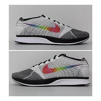 Nike Flyknit Racer Be True Lgbt Rainbow Black White 902366-100 Men 13 Women  14.5 c3f031411661