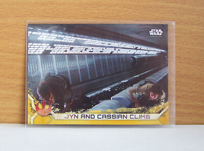 Star Wars Rogue One series 2 Jyn and Cassian climb #82 Gold parallel card 12/50