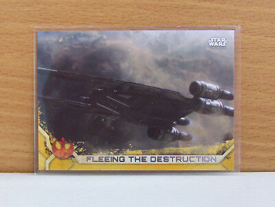 Star Wars Rogue One series 2 Fleeing the destruction #26 Gold card 42/50