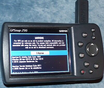 Garmin GPSMAP 296 Aviation, also for boating (with additional map cartridge)