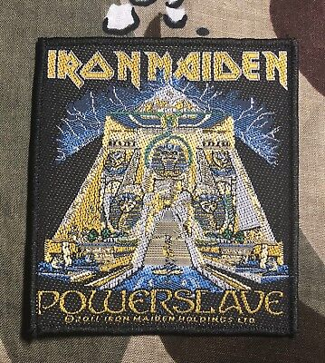Iron Maiden Powerslave Woven Patch I010P Metallica Ghost Slayer Blind Guardian