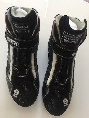 Marcos Ambrose Race Worn Race Boots Signed By Marcos Ambrose NASCAR