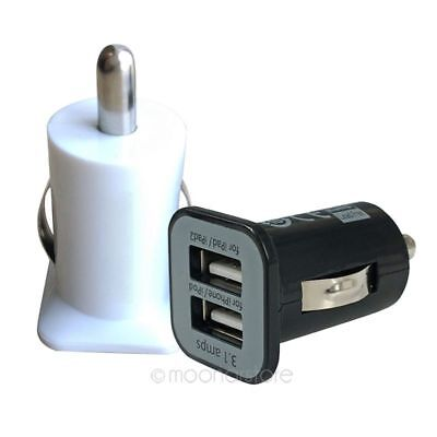 1-2x Dual USB Car Charger 2 Port Universal Charging For Mobile Phone