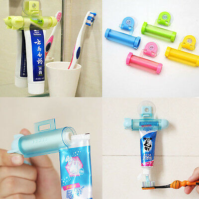Rolling Squeezer Toothpaste Dispenser Tube Partner Sucker Hanging Holder Lovely