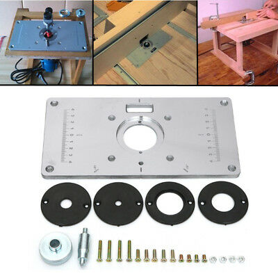 Aluminum router table insert plate w 4 rings screws for woodworking aluminum router table insert plate w 4 rings screws for woodworking benches keyboard keysfo Image collections