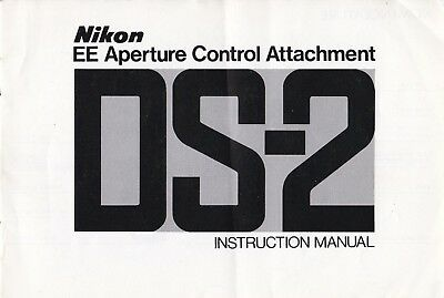 100% Genuine Original Nikon Manual Ds-2 Ee Aperture Control Attachment 76.9.b
