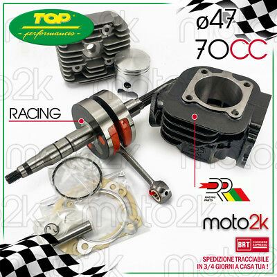 KIT GRUPPO TERMICO DR 70 cc + ALBERO MOTORE RACING MBK BOOSTER 50 2T