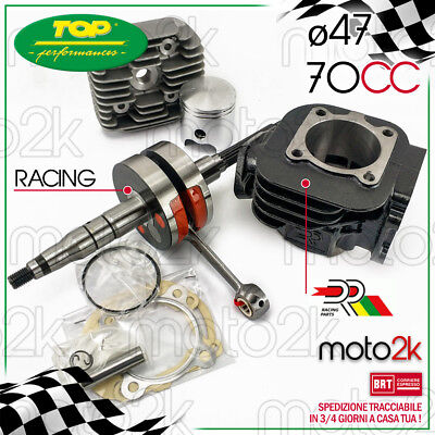 KIT GRUPPO TERMICO DR 70 cc + ALBERO MOTORE RACING MBK BOOSTER NG 50 2T
