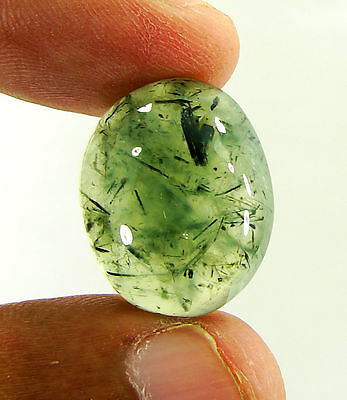 28.40 Ct Natural Prehnite Cabochon Loose Gemstone Beautiful Stone - ZS3570