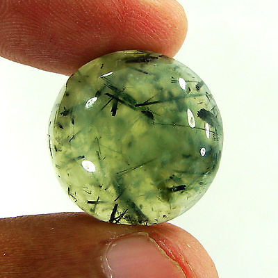 29.80 Ct Natural Prehnite Cabochon Loose Gemstone Beautiful Stone - ZS3502