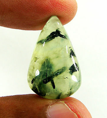 21.90 Ct Natural Prehnite Cabochon Loose Gemstone Beautiful Stone - ZS3351