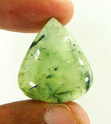 51.25 Ct Natural Prehnite Cabochon Loose Gemstone Beautiful Stone - ZS3469