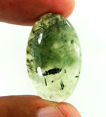 27.15 Ct Natural Prehnite Cabochon Loose Gemstone Beautiful Stone - ZS3402