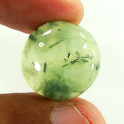 25.85 Ct Natural Prehnite Cabochon Loose Gemstone Beautiful Stone - ZS3374