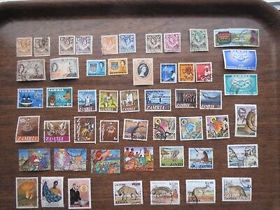 50 ZAMBIA, NORTHERN RHODESIA  STAMPS  all eras
