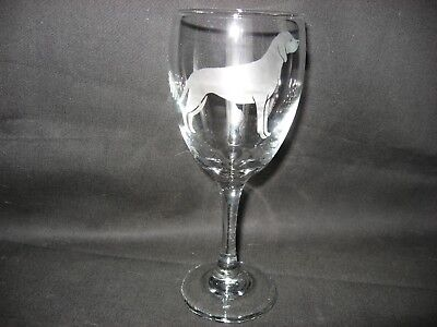 New Etched Rhodesian Ridgeback Wine Glass