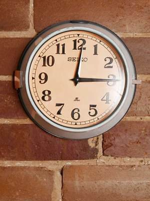 Vintage Seiko Ship's Wall Clock - Industrial Marine Salvage