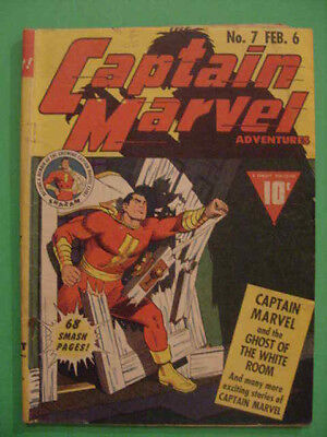 Rare, 1942, Captain Marvel Adventures, #7, Vg+ Cond, See Info