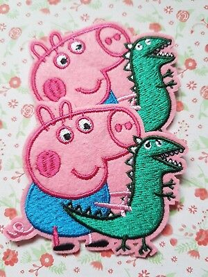 1 x Embroidered George Pig Sew On/Iron On Patch Badge Applique DIY Motif