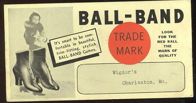 Unused 1930S Ink Blotter Advertising Wigdor's, Charleston, Mo. Ball Brand Boots