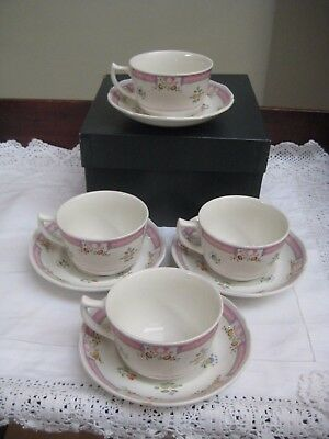 Boxed Set 4 Laura Ashley 'Alice' Tea/Coffee Cups & Saucers
