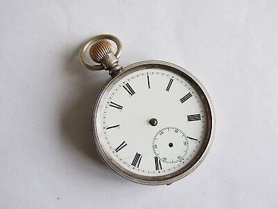 Antique silver 1907 Chester English lever pocket watch for spares or repair