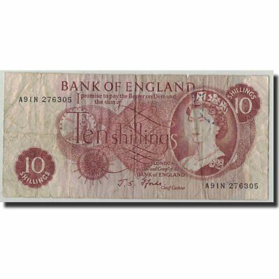 [#315037] Banknote, Great Britain, 10 Shillings, Undated (1961-70), KM:373c