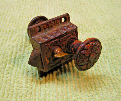 Antique Ornate Eastlake Cast Iron Porch Door Cupboard Latch - SARGENT