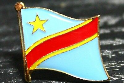 CONGO Congolese Country Metal Flag Lapel Pin Badge *NEW*