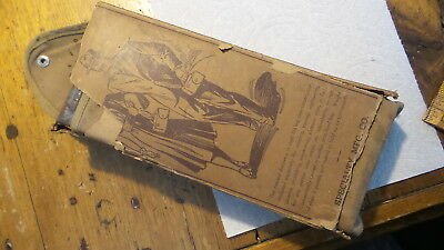 Antique YANKEE POCKET CHAIR, in Carrying Case, Original Box, Instructions, Stool