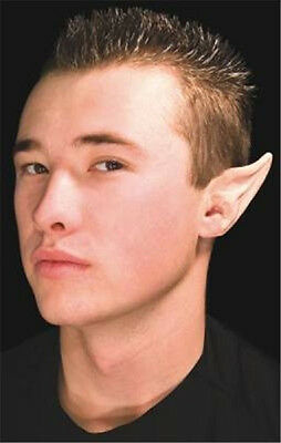 LARGE Latex Prosthetic Pointed Ear Tips Fairy Elf Hobbit Spock Costume Accessory