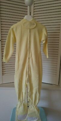 NWOT Vintage Curity Toddler Girl's/Boys Soft Yellow Footed Pajamas Size XL 3-4