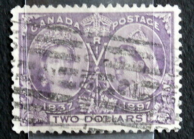 CANADA - Queen Victoria :1897, Used $2 Dark Purple , Scott #62