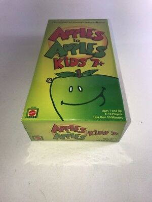 Apples To Apples Kids 7+ By Mattel New Sealed In Box