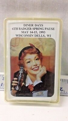 Vtg Coca Cola Playing Cards Deck 1993 Diner Days Badger Spring Dells Wi Sealed